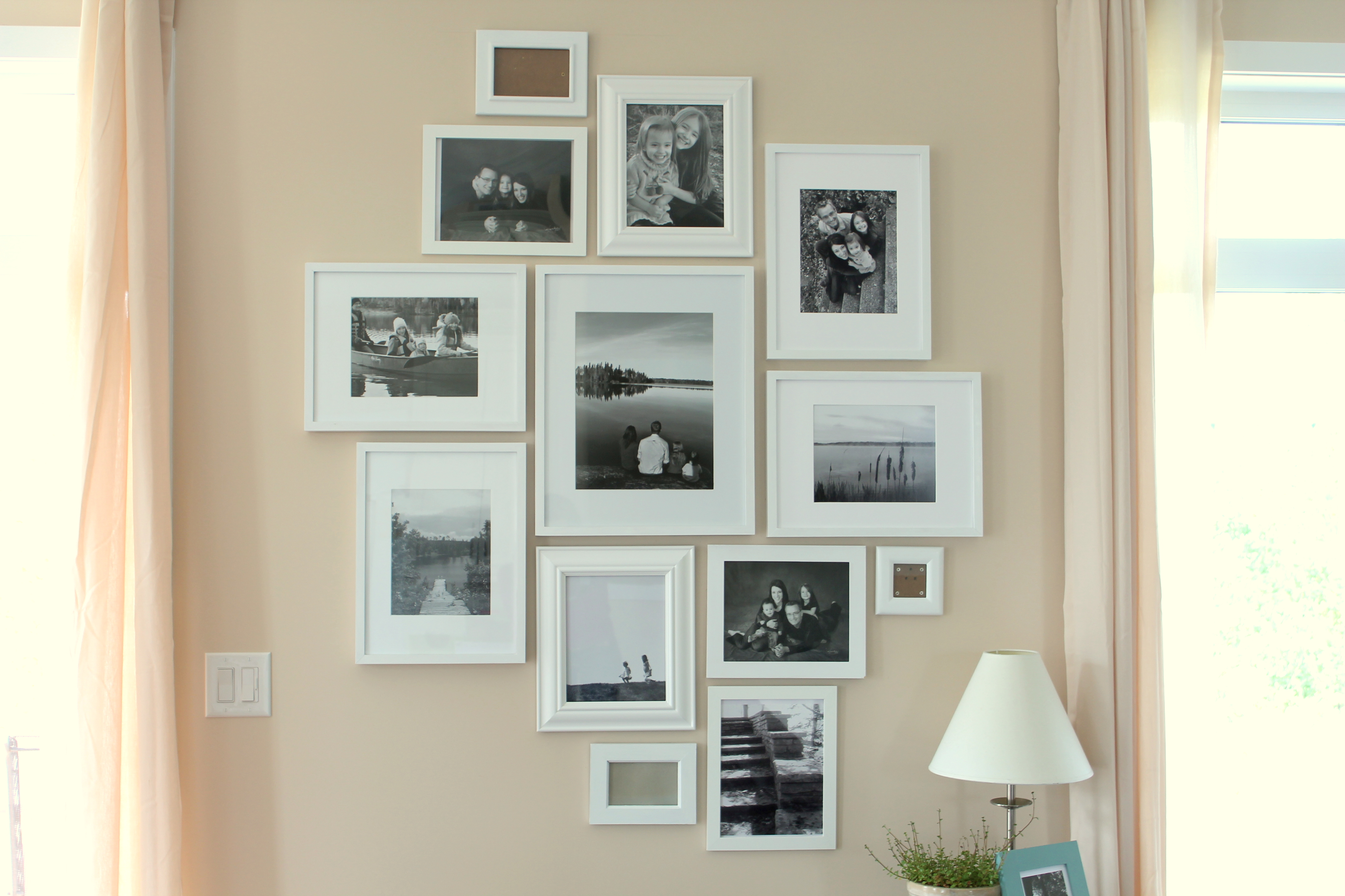 Picture frames ordinary days its my favorite wall in the house jeuxipadfo Gallery