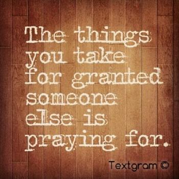 praying for
