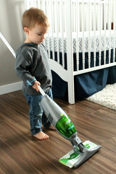 Everett vacuuming