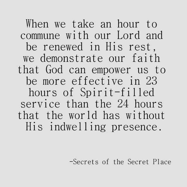 Quote from Secrets of the Secret Place
